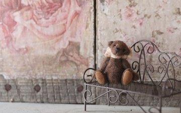 настроение, игрушка, скамейка, лавочка, медвежонок, плюшевый мишка