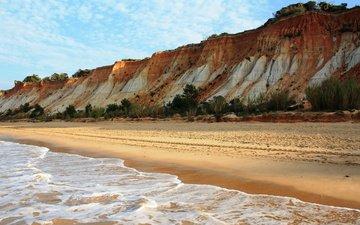 небо, природа, море, пляж, лето, прибой