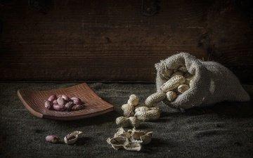 орехи, фон, еда, арахис, земляной орех