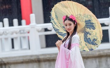 style, girl, mood, look, hair, face, umbrella, asian