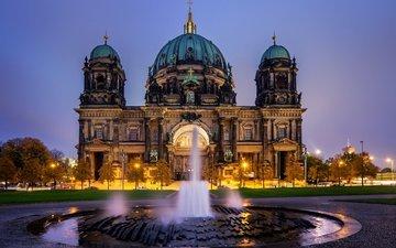 фонтан, германия, берлин, кафедральный собор, берлин. германия