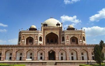 архитектура, индия, мавзолей, ислам, гробница, дели, гробница хумаюна