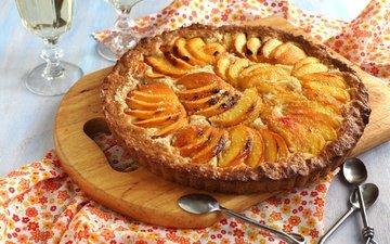 яблоки, сладкое, выпечка, десерт, пирог