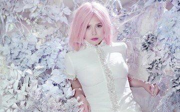 стиль, актриса, розовые волосы, элизабет олсен