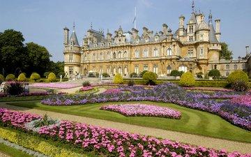 цветы, англия, дворец, особняк, уоддесдон