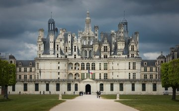 архитектура, франция, замок шамбор, долина луары