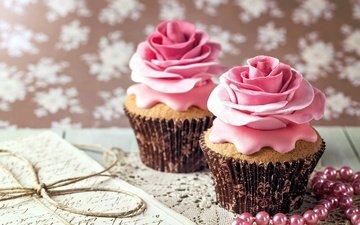 beads, sweet, cakes, cupcakes, cupcake, cream