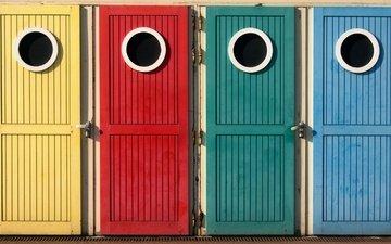 цвет, окна, двери, кабинки