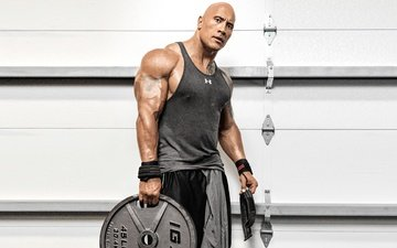 actor, tattoo, dwayne johnson, training, muscles