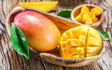 фрукты, доски, фрукт, плоды, манго