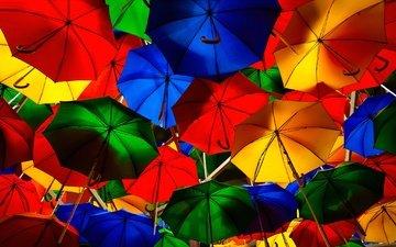 краски, улица, зонт, зонтик