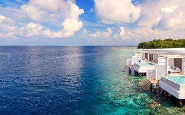 море, остров, курорт, тропики, мальдивы