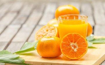 напиток, витамины, апельсин, стакан, сок, фреш