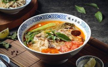 овощи, миска, суп