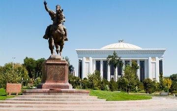 парк, памятник, ташкент, памятник амиру тимуру, узбекистан