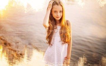 figure, smile, children, girl, hair, face, redhead