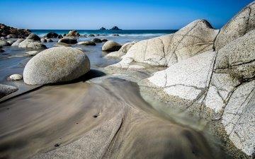скалы, камни, берег, пейзаж, море