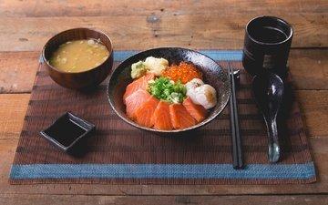 соус, морепродукты, лосось