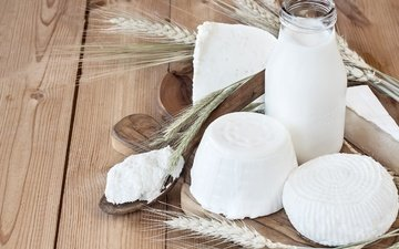 сыр, колоски, молоко, творог