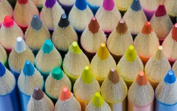 текстура, цвета, разноцветные, краски, карандаши, рисование, цветные карандаши
