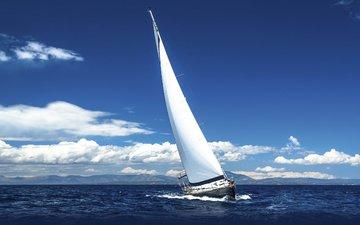 небо, облака, море, парусник, яхта, dmitry berkut