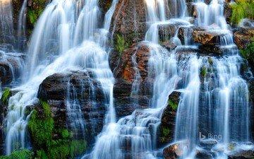 скалы, природа, водопад, bing