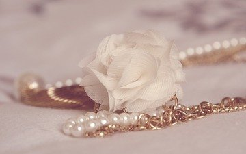 decoration, pearl, chain
