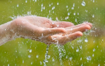 water, hand, macro, drops, squirt, rain, the pavel rodimov