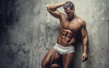 мужчина, фигура, мускулы, мышцы