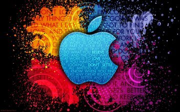 background, paint, spot, logo, mac, apple, brand, phrase