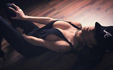 девушка, лежит, красивая, сексуальная