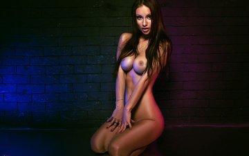 girl, pose, look, room, chest, legs, photographer, figure, body, naked, ass, fomakin igor