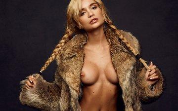 girl, look, model, chest, photographer, figure, body, brown hair, ekaterina zueva