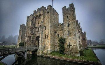замок, город, англия, кент, hever castle, фортпост
