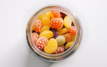 конфеты, сладкое, банка, леденцы, карамель