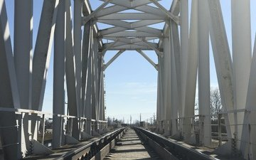 bridge, train, over the bridge, rail bridge