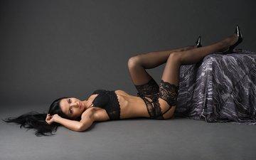 girl, legs, hair, sexy, on the floor, in lingerie
