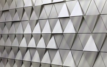 texture, design, background, wall, graphics, triangle, steel, triangles, 3d