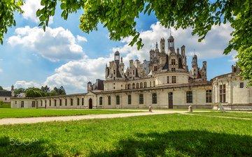 парк, замок, архитектура, франция, chateau de chambord, луара, долина луары, шато, шамбор