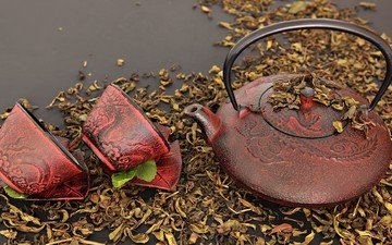 drink, tea, kettle, cup, teapot, tradition, chinese tea