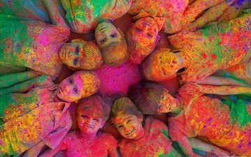 mood, paint, children, holi, festival, the festival of holi