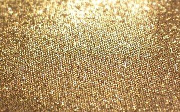 текстура, фон, блеск, золото, золотая
