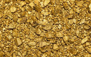 камни, текстура, золото, золотая