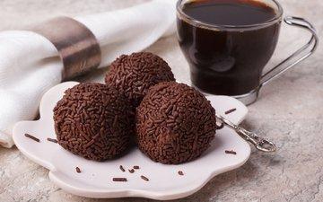 кофе, конфеты, шоколад, десерт