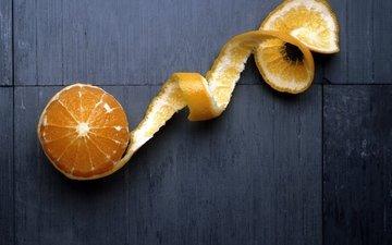 фрукты, апельсин, цитрусы, цедра, кожура