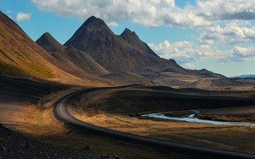 дорога, горы, природа, пейзаж