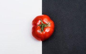 фон, красный, овощи, помидор, томат, черно-белый фон