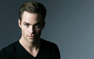 background, portrait, actor, in black, chris pine