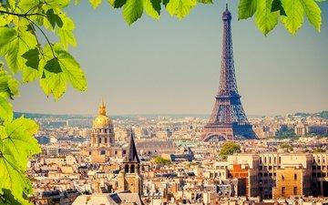 город, дома, париж, франция, эйфелева башня