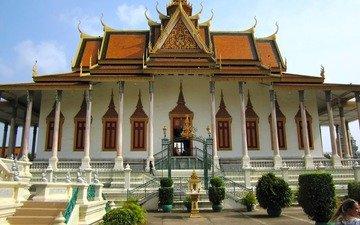 храм, дворец, камбоджа, пномпень